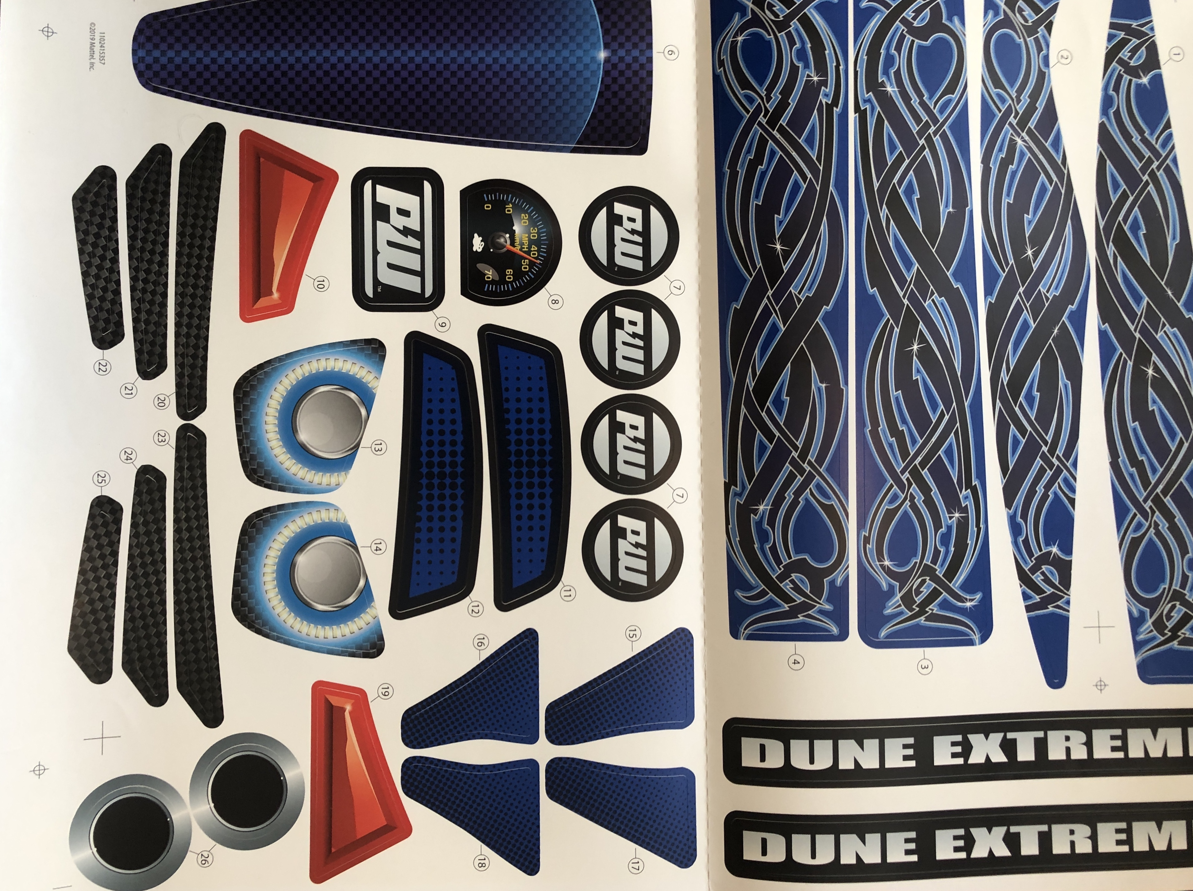 Decal for Dune Racer Extreme (Model GTR90)