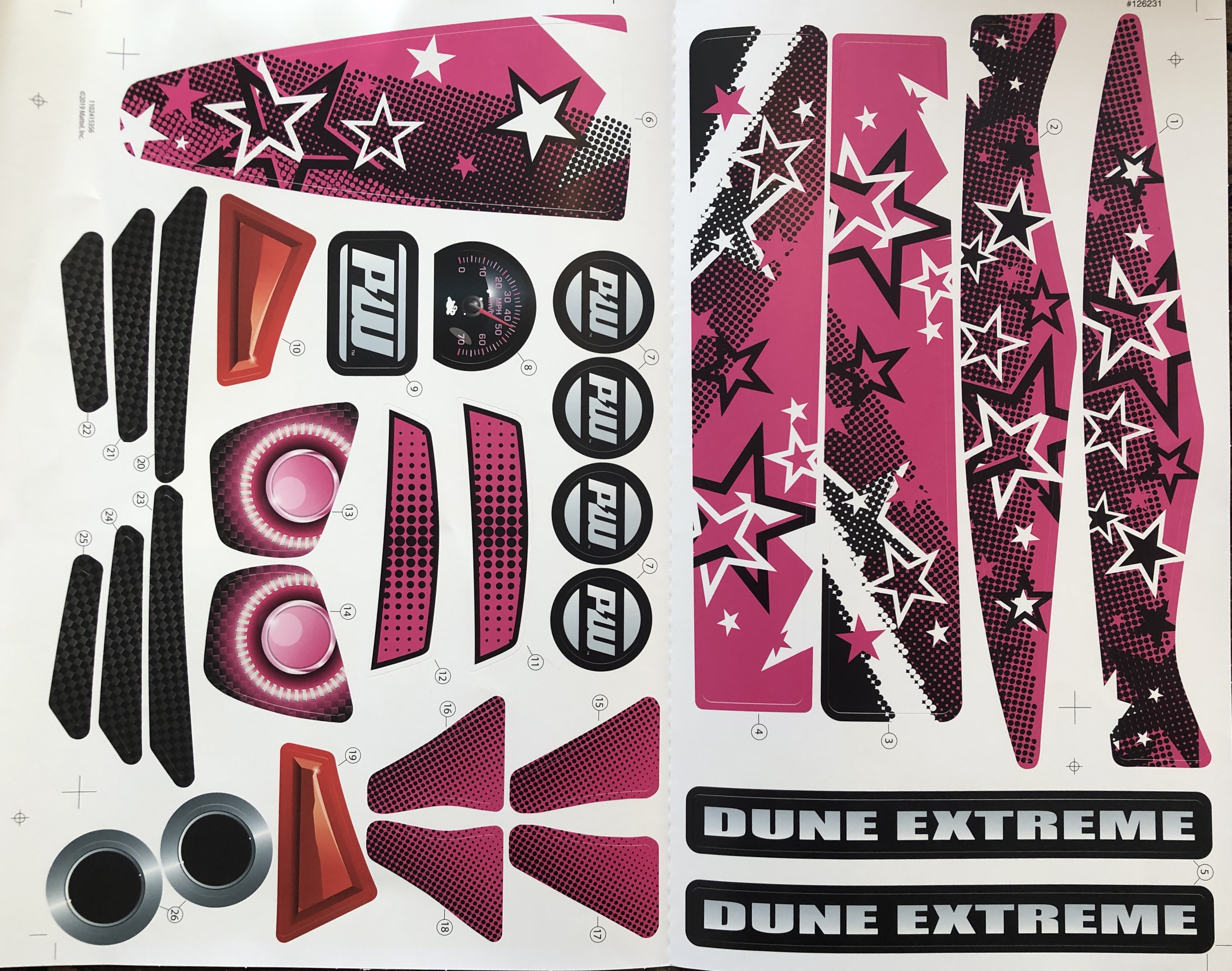 Decal For Dune Racer Extreme (Model GTR89)