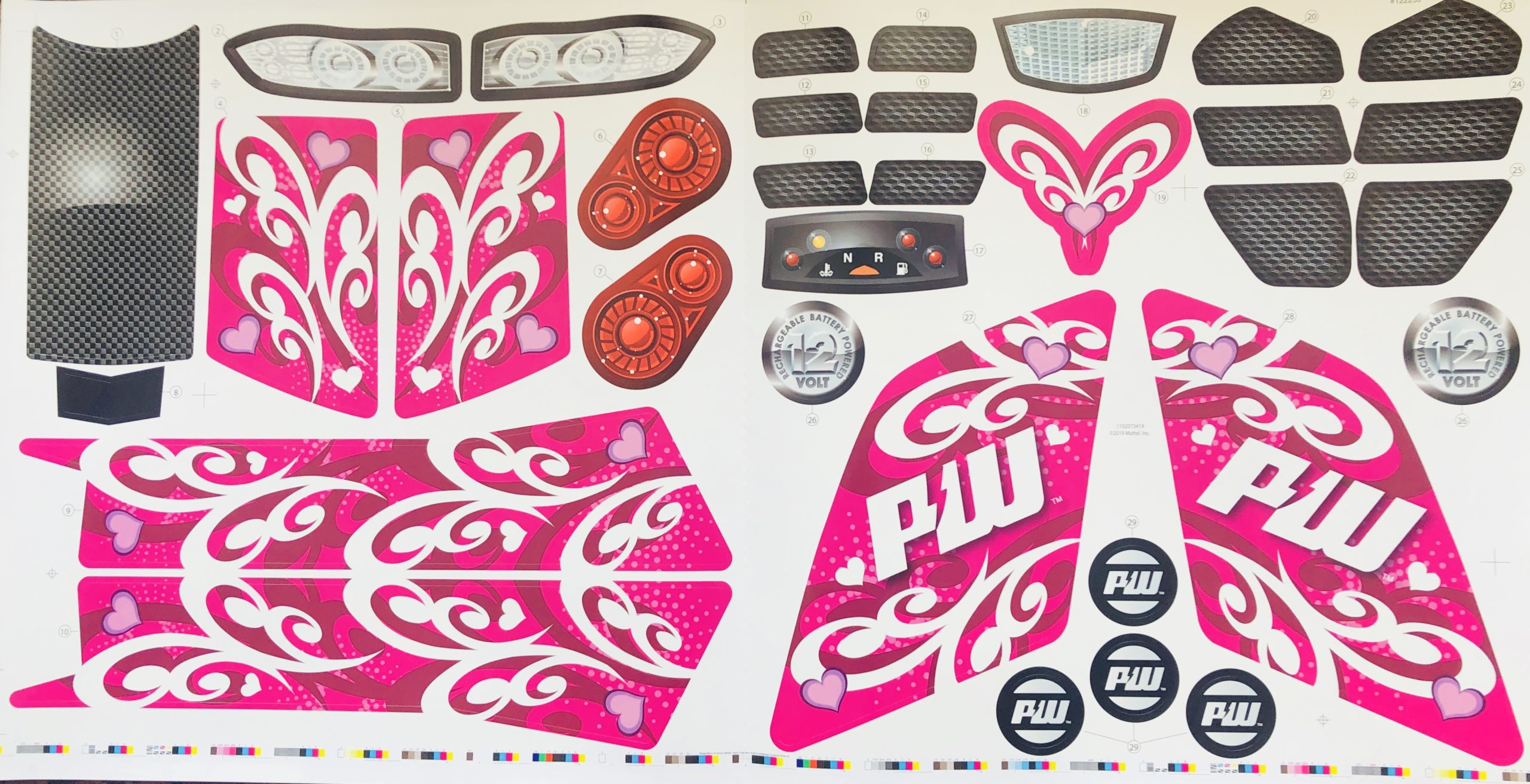 Decal for Racing ATV (Pink)