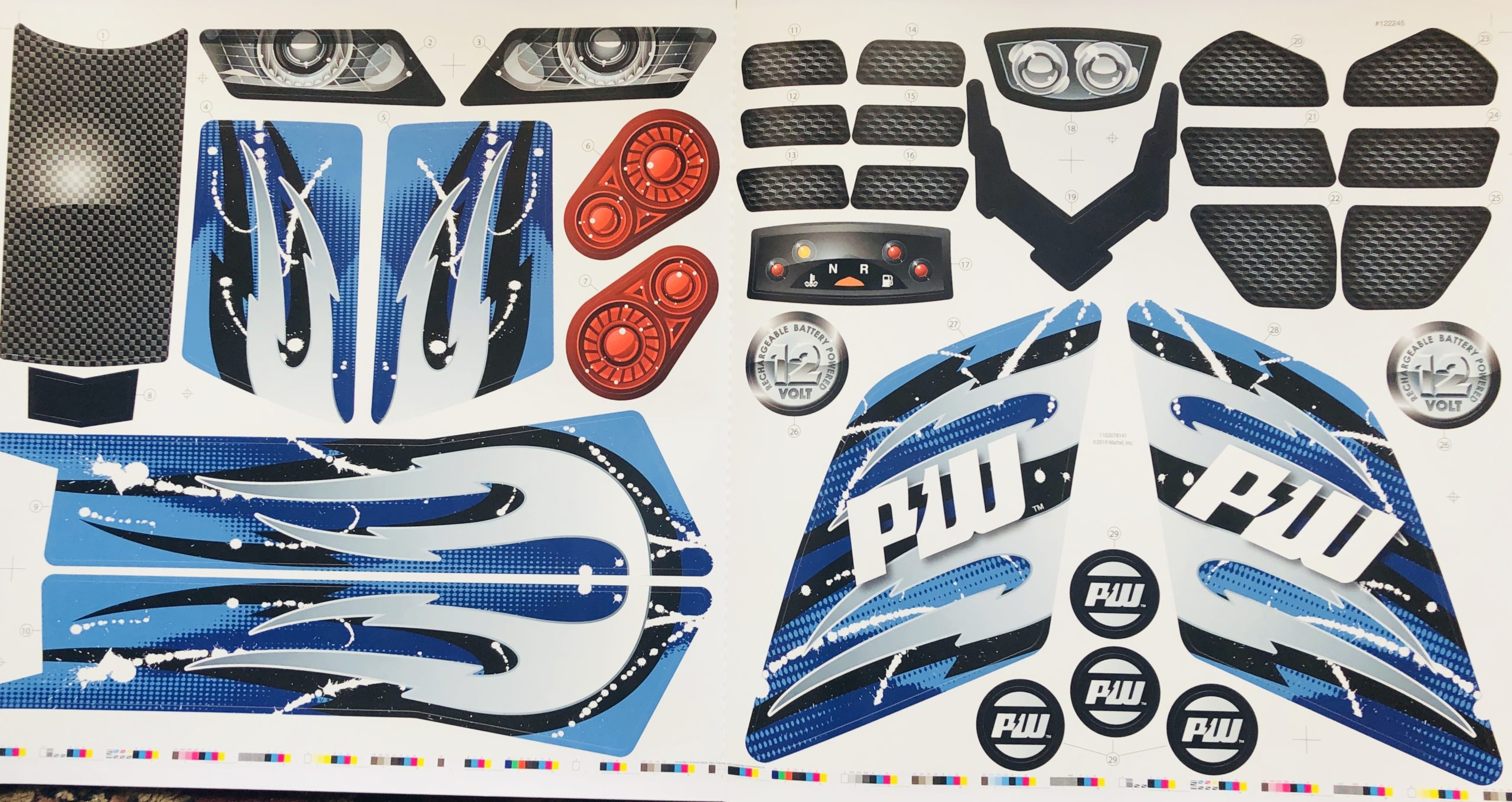 Decal for Racing ATV (Blue)