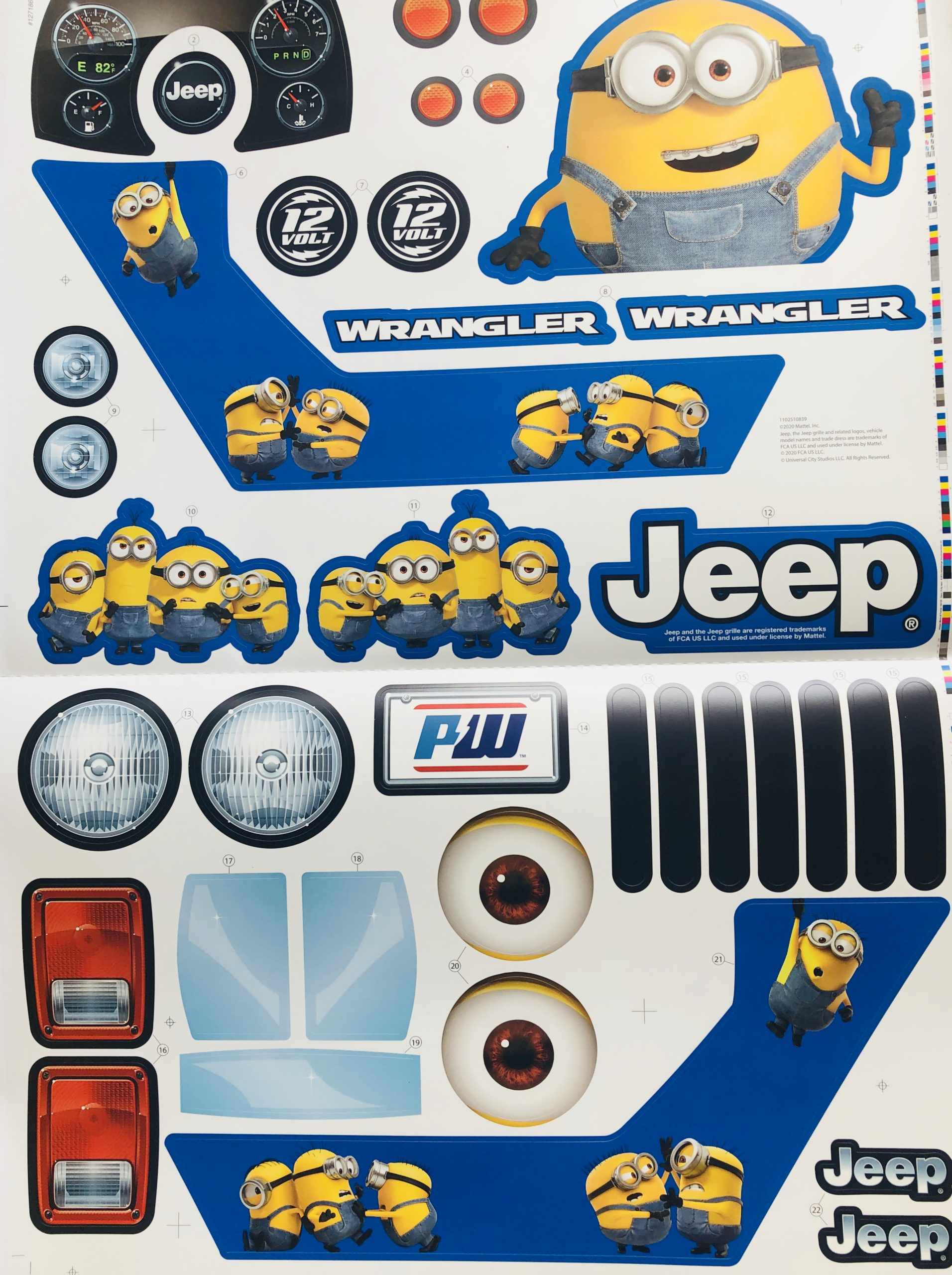 Decal for Jeep (Minions)